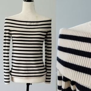 Club Monaco Navy and White Felicienne Sweater